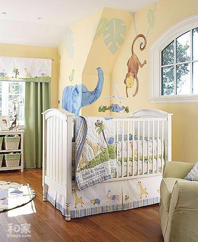 儿童房手绘背景墙 给孩子童话生活