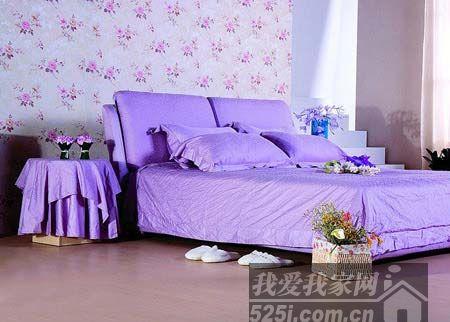 紫色碎花壁纸
