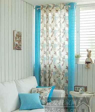 地中海客厅必备:蓝白配窗帘,地毯     推荐家品3:韩国进口橄榄树穿孔
