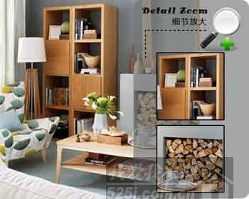 原木色家具+原木装饰