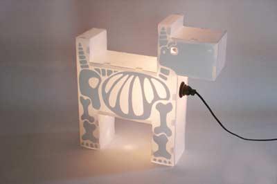 小动物造型灯具活灵活现