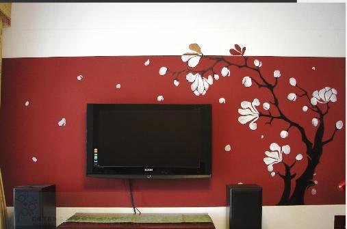 个性手绘墙展现美丽田园风情