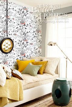 背景墙设计 壁纸打造空间别样感觉