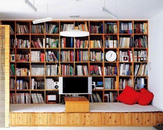 空间收纳 小户型装饰性收纳背景墙