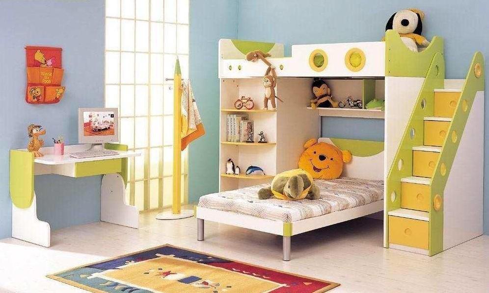绿色的儿童房家具的选用