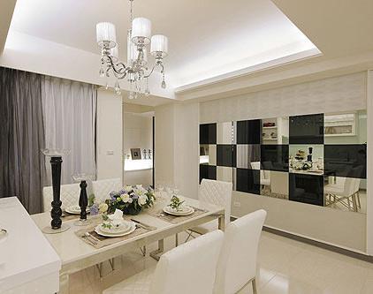 白色大理石背景墙 装点时尚简约禅风空间
