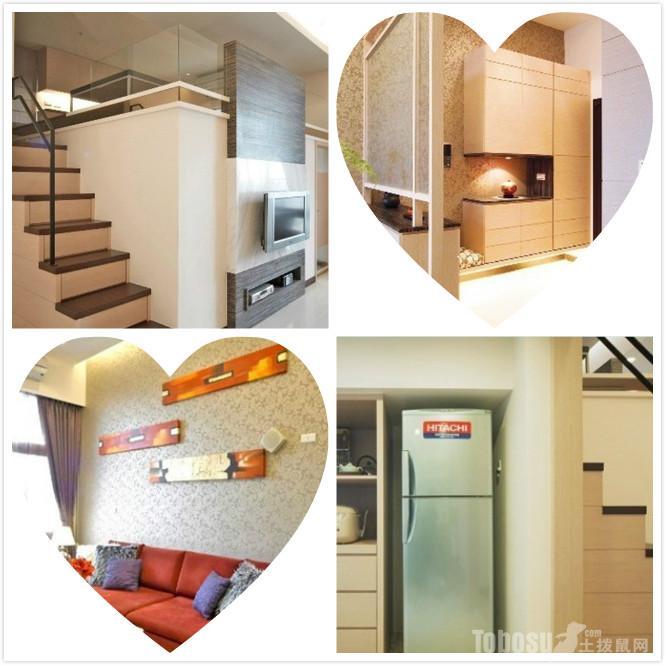 50平米挑高小户型婚房装修设计及效果图高清图片
