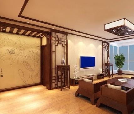 中式元素电视背景墙装饰设计