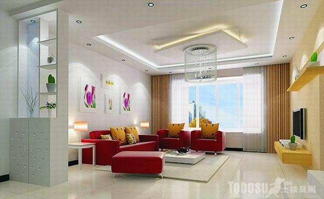 方法是用平板吊顶的形式,把顶部的管线遮挡在吊顶内,顶面可嵌入筒灯或