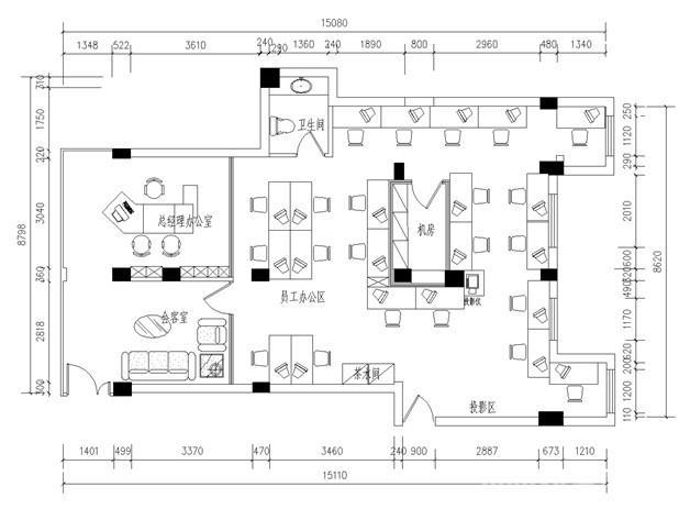 办公楼装修平面图