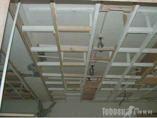 木龙骨吊顶施工工艺高清图片