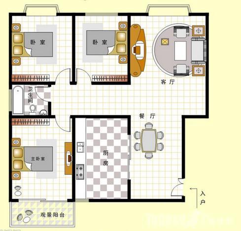 90—100平米三室两厅半包装修预算费用清单