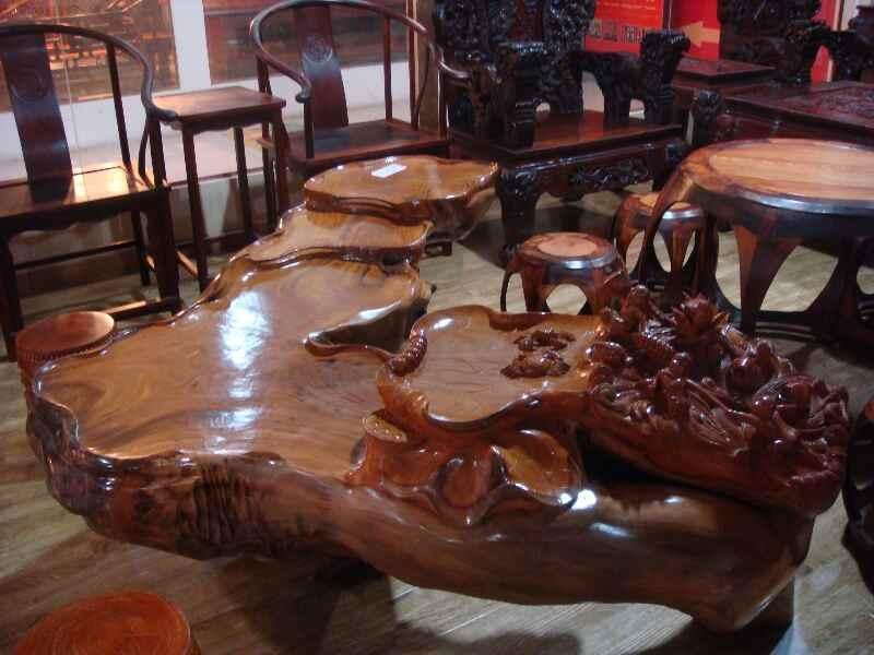 根雕茶几价格 根雕茶几种类与图片