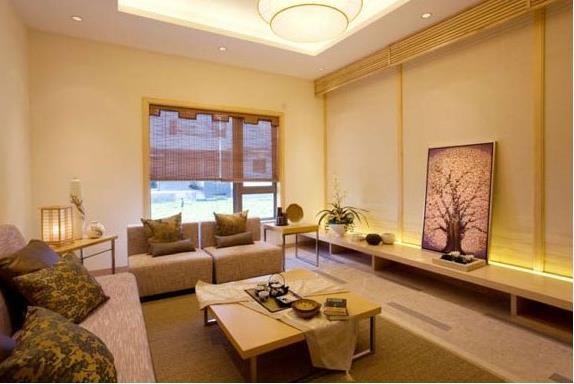 现代日式风格装修的卧室