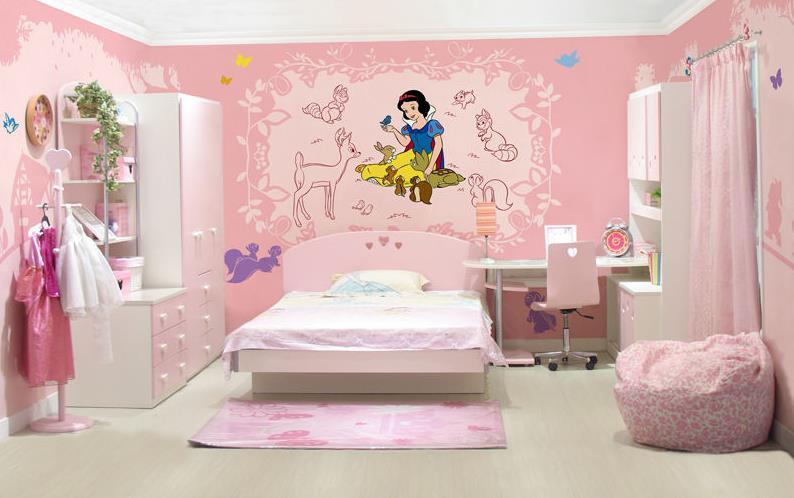 家居手绘墙 儿童房手绘墙画
