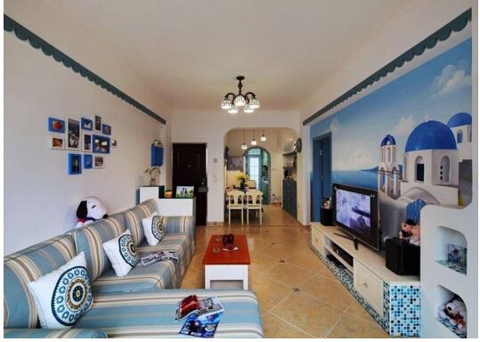 蓝色室内装修效果图
