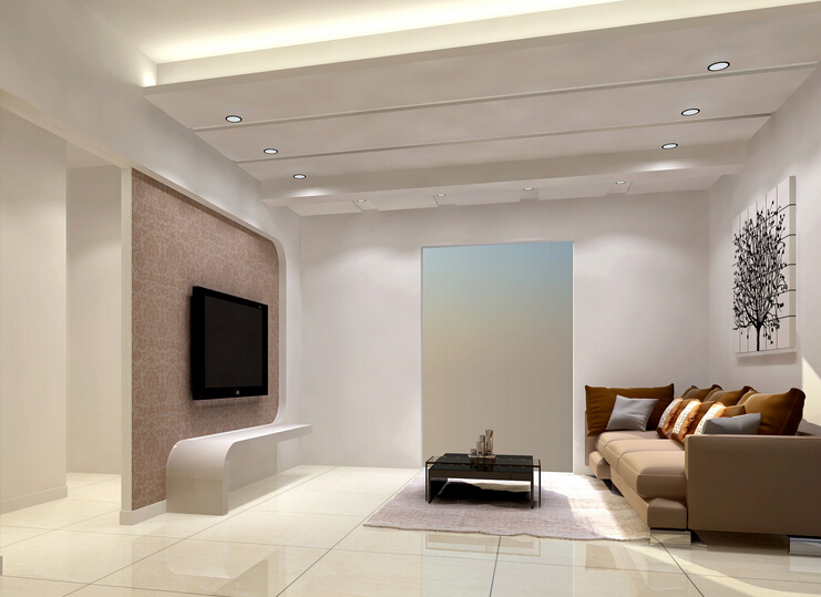 客厅吊顶有横梁的装修技巧二:梁柱结合照明