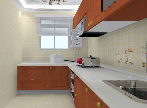 厨房间的操作环境是高温环境,选择瓷砖的色彩应当以浅色和冷色调为主