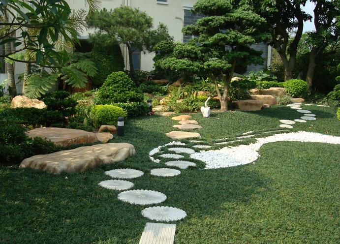 别墅园林设计时,若花园是南向的