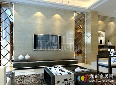 电视背景墙装装修的材料有很多,如玻璃电视背景墙,硅藻泥电视背景墙