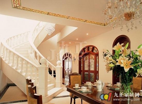 (2)复式楼的楼梯一般都是采用护栏的形式,所以其设计原则安全性必不图片