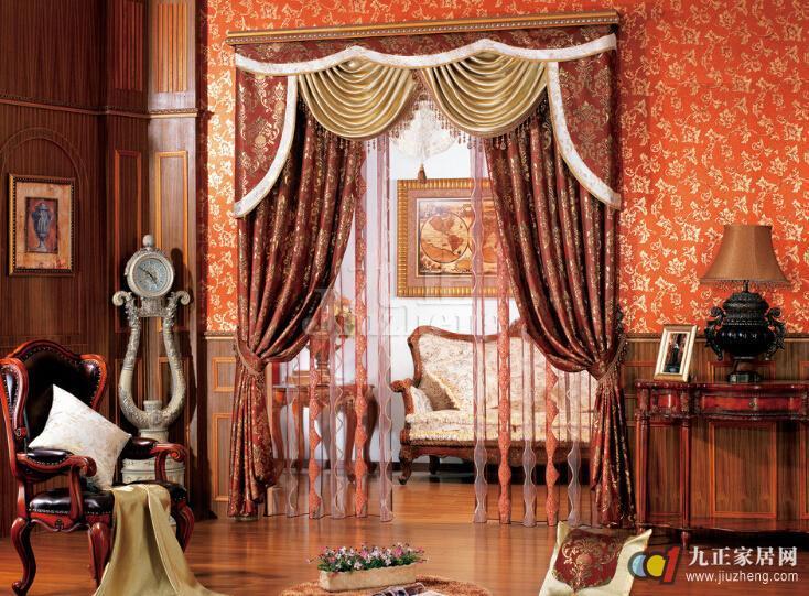 欧式窗帘颜色怎么搭配