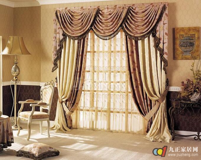 欧式窗帘颜色怎么搭配 欧式窗帘的清洁方法图片