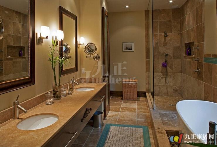 美式卫生间如何装修 美式卫生间有什么特点   浴缸区选用全开放式规划图片
