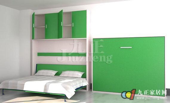 壁床又称隐形床、翻板床,这种设计和节约空间,小户型的房子非常适用。今天九正家居网的小编将要来给大家分享一下壁床的分类和壁床的作用知识。 壁床的分类: 壁床类型分为直翻壁床,侧翻壁床,双层壁床,壁桌床,沙发壁床 侧翻壁床:翻时床体为长边方面翻,此类壁床对壁床铰链弹力要求及壁床固定力要求可靠。 双层壁床:双层壁床为双层床 ,如不使用时可同侧翻壁床一样翻转上去,紧贴墙壁,节省面积更节省空间,因为双层床,一般会要上层加上一个楼梯,并对上层床的支持力要求很高,无论上层及下层对结构可靠及承受力均要牢靠。  壁桌床:顾