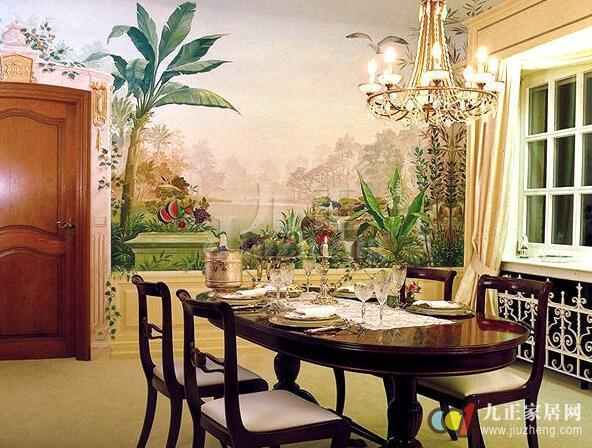餐厅墙面彩绘如何处理 餐厅墙面彩绘的处理方法