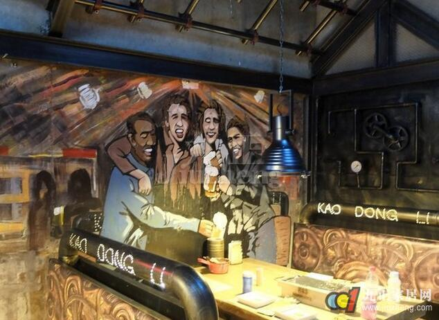 餐厅墙面彩绘如何处理