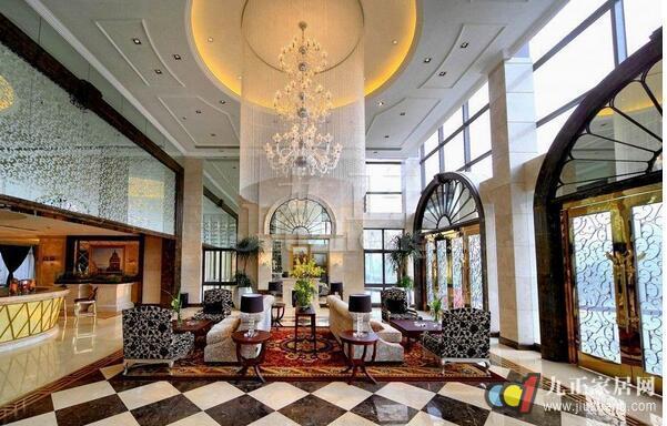 酒店餐厅吊顶简约时尚花纹