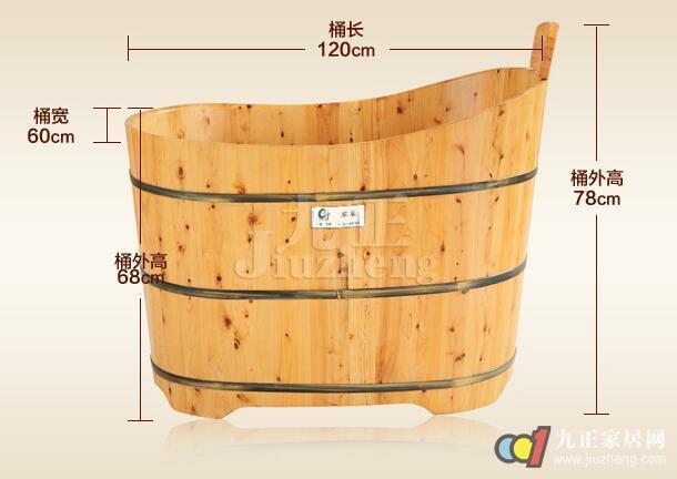 节约水资源:由于木桶浴缸材质的保温作用好