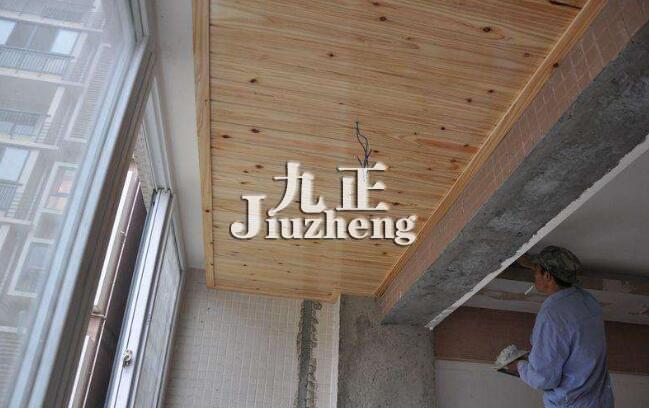 阳台木吊顶