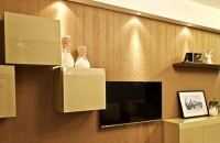 电视背景墙颜色搭配 硅藻泥背...