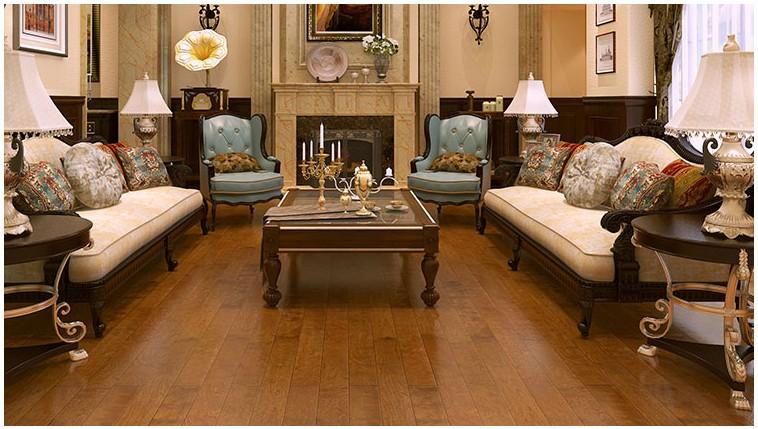 【扬子地板 五层枫桦实木复合木地板