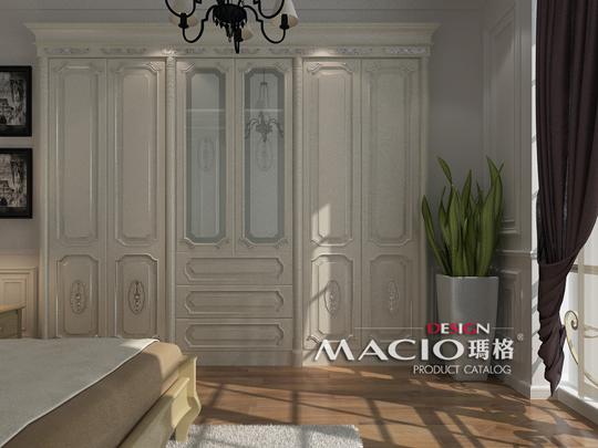 玛格定制家具 奢华法式实木衣柜