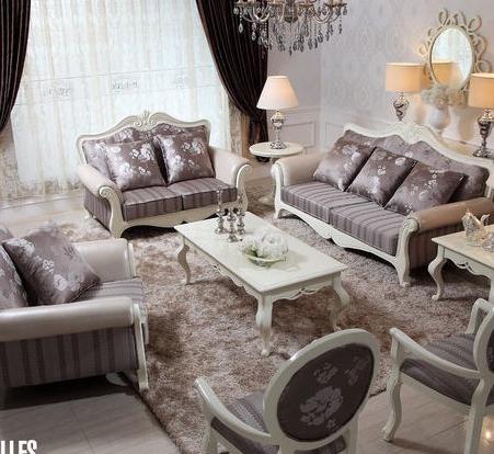 【好风景家具 实木沙发 欧式沙发 后现代皮布沙发】