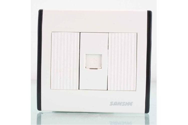 0-电话插座面板-奶白色