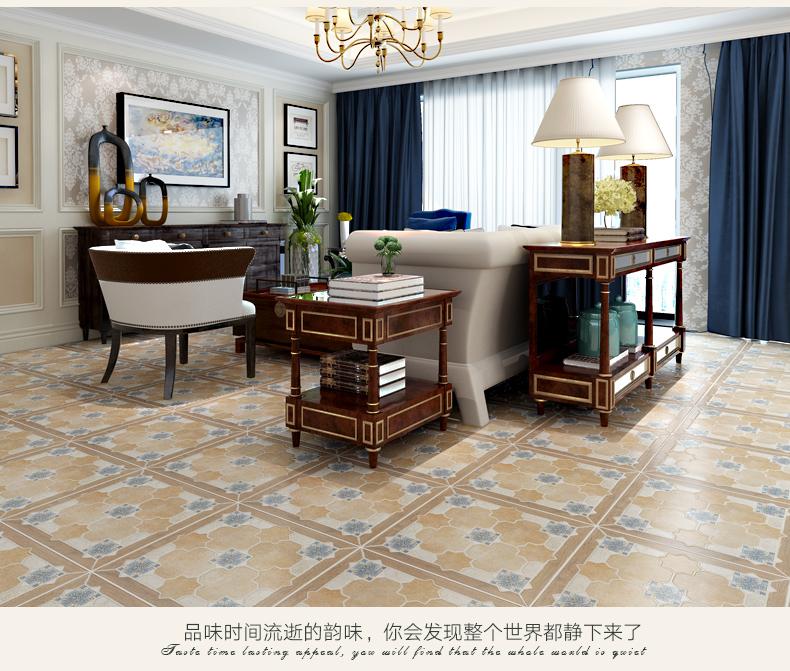【罗浮威尔美式地砖田园复古拼花木纹地板砖 地中海砖图片