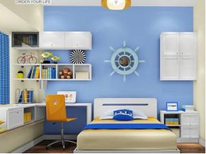 尚品宅配 儿童房 地中海风格 环保衣柜儿童床定制图片