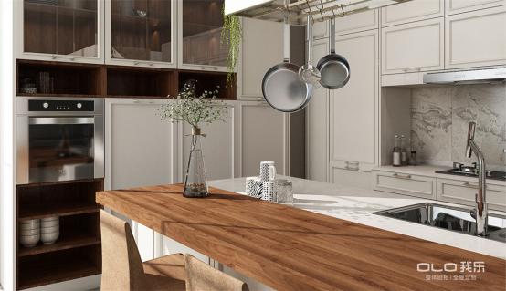 我乐日日操橱柜的餐厨一体化设计,好用到想和全世界炫耀