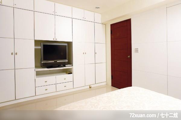铮峰_09_基隆,墨比雅设计团队,王思文,卧室,电视柜,造型衣橱