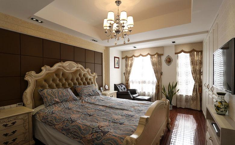 卧室床头软包装修效果图991