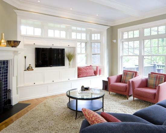 欧式风格白色客厅电视背景墙柜装修效果图装修效果图