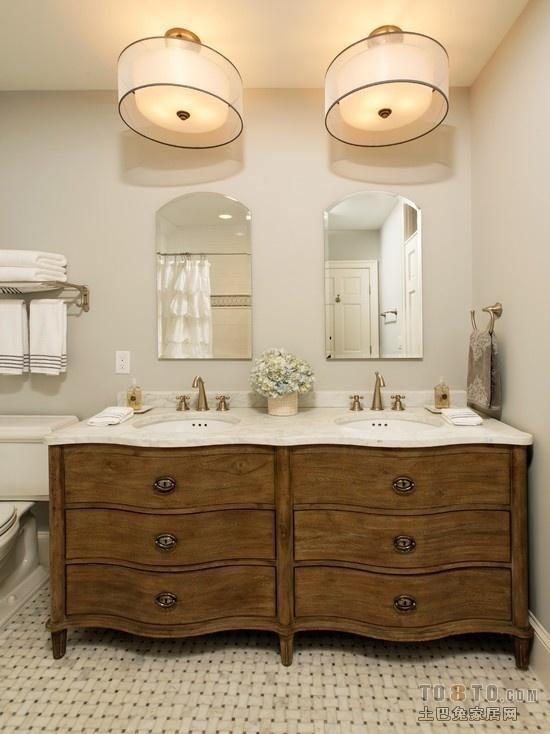 两室一厅家庭卫生间效果图 简约宜人