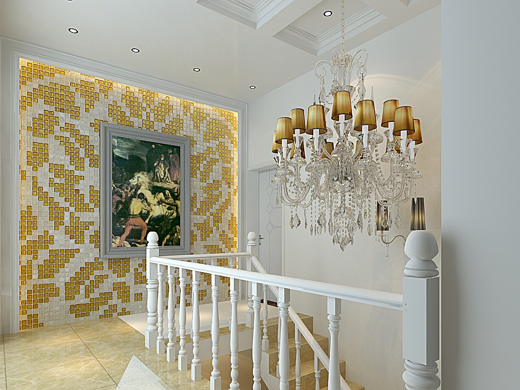 30万打造地中海风格走廊吊顶装修设计装修效果图 第4张 家居图库 九高清图片