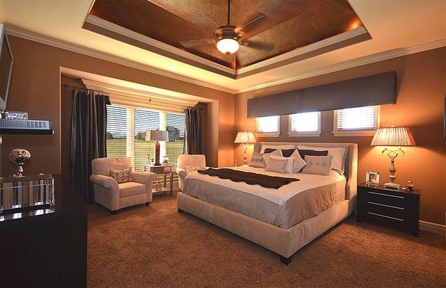 复式楼华丽的地中海风格卧室吊顶装修效果图
