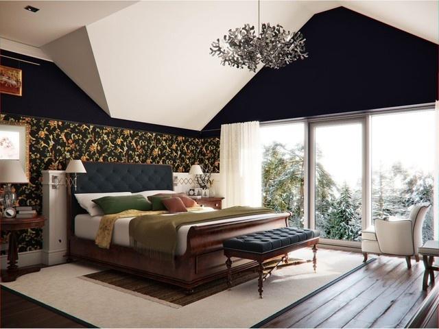 欧式华丽的复式楼卧室飘窗装修效果图大全装修效果图