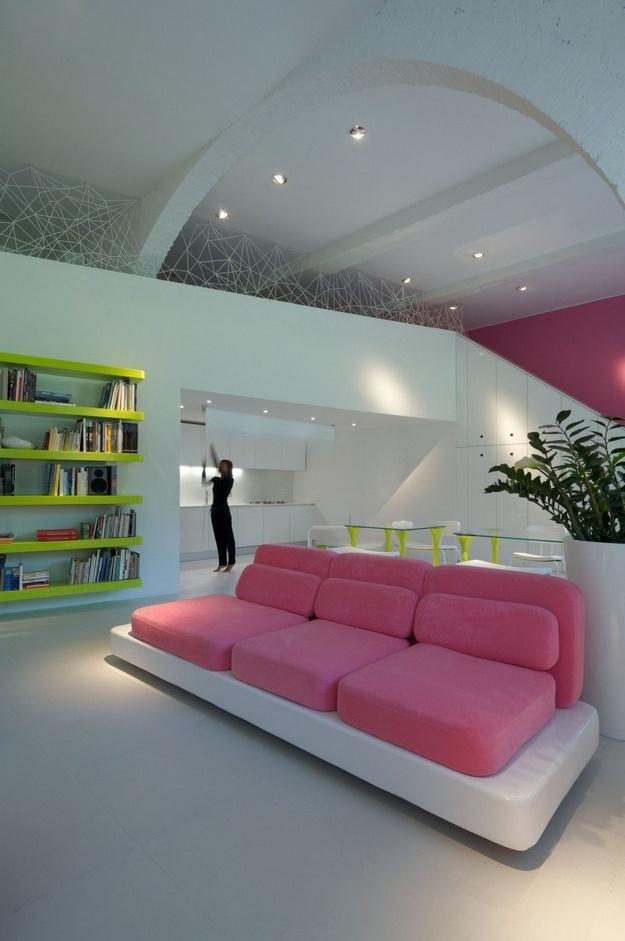 朦胧梦幻的二居室客厅吊顶装修效果图大全
